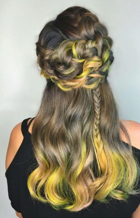 braided-crown-and-pastel-tips-450x700