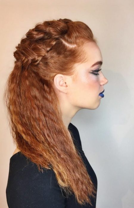 crimped-half-updo-with-braids-450x700