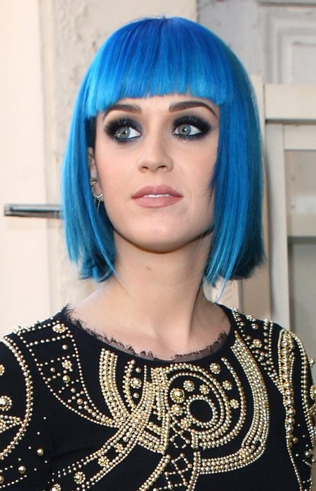 Katty Perry Bleu Vif Bob