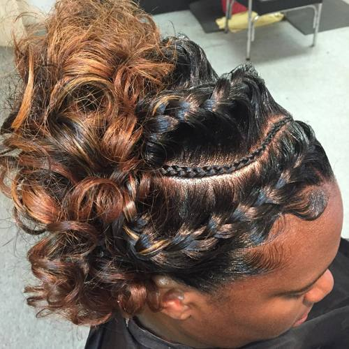curly-updo-with-braids