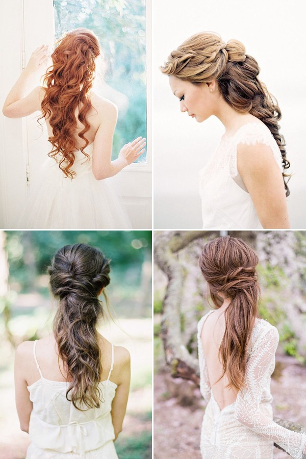 Long-down-wedding-hairstyles -pour long cheveux