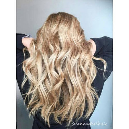 Blonde Faits saillants Balayage Soft Ombre Long Curly Couleurs