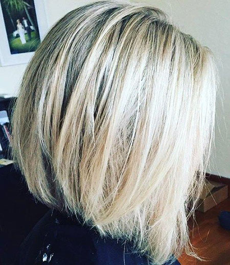 Bob Blonde Balayage Platine Points culminants Cendres sans