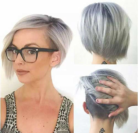 Short Under Bob Asymétrique Pixie Grey
