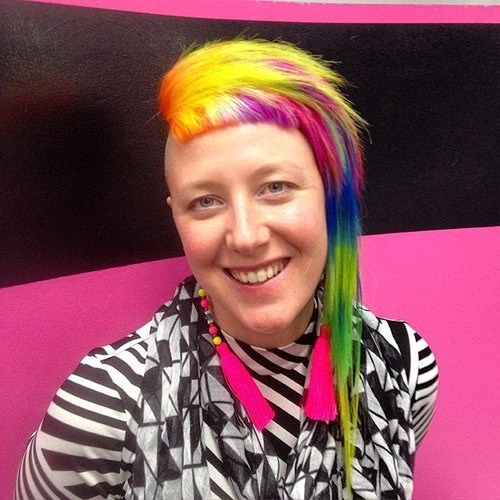 Funky Asymmetric Rainbow Hairstyles
