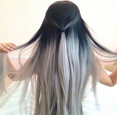 Blanc Ombre platine cheveux blonds et blancs
