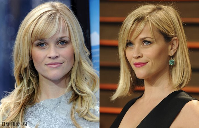 Reese Witherspoon coiffures avec frange