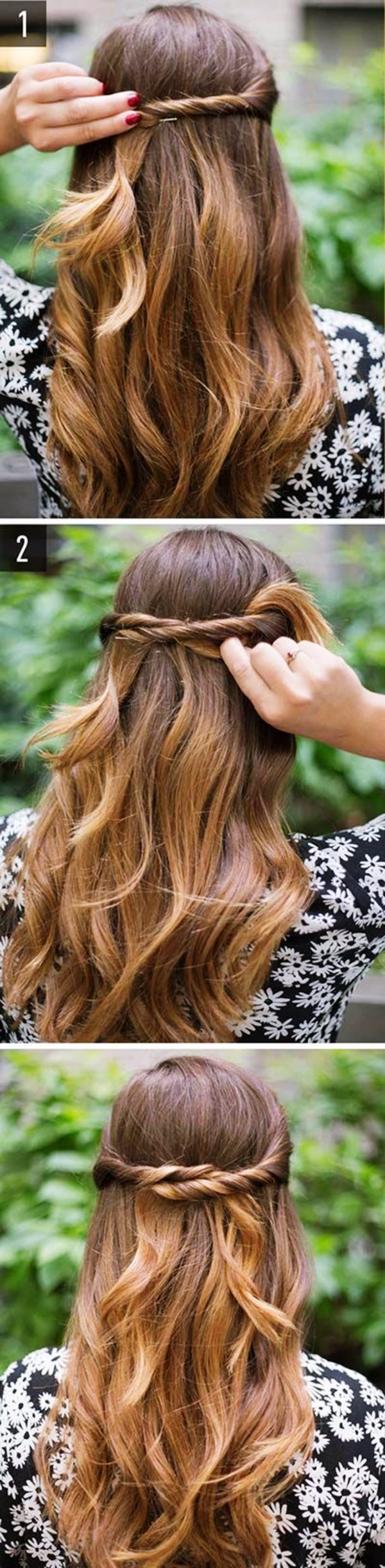 Déesse grecque-Half-up-Half-Down-Hairstyles