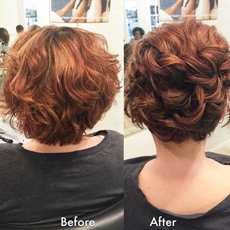 ] Ondulé Chignon Hairtyle, Curly Courts Chignons