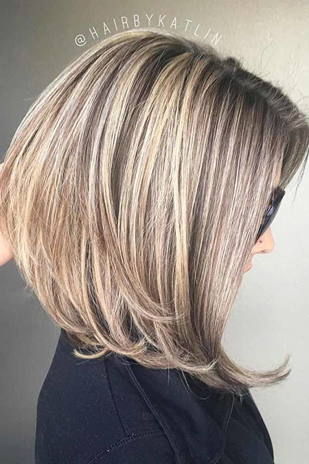 Bob Blond Layered Brun