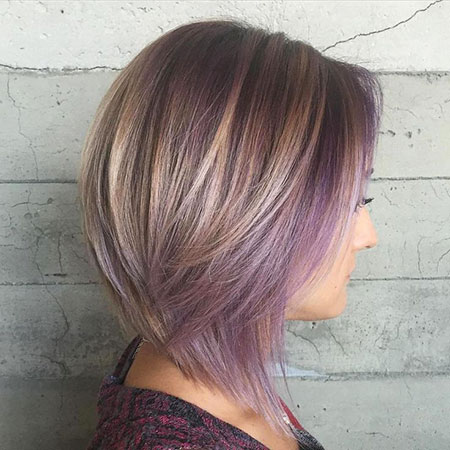 Purple, Highlights, Brown, coiffures blondes de Bob, Balayage