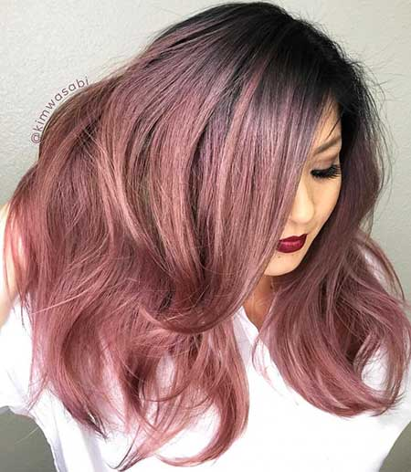 Plat İrons, Or Rose, Ombre, Violet