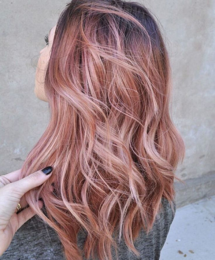 Rose Gold Hair Top