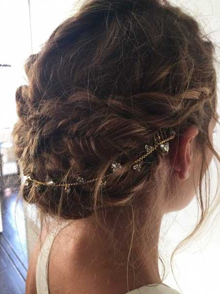 Tresses, Mariage, Chignon, Mariage, Brioches, Morceaux, Mariage