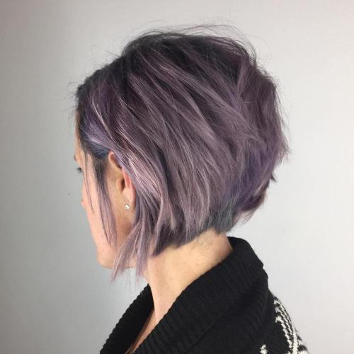 Short Purple Bob