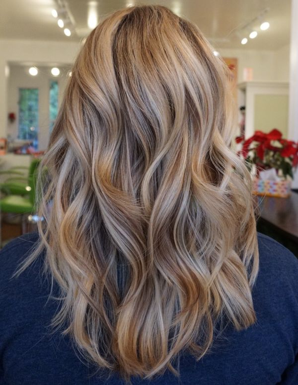 Dark Blonde Highlights