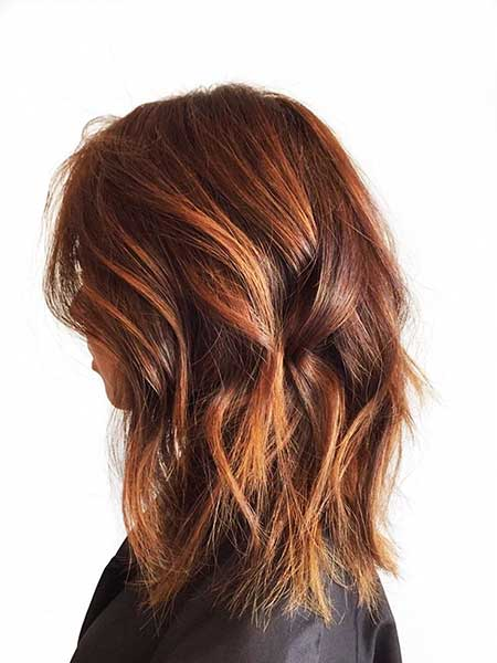 H phares, Balayage, Caramel Highlights, Brun