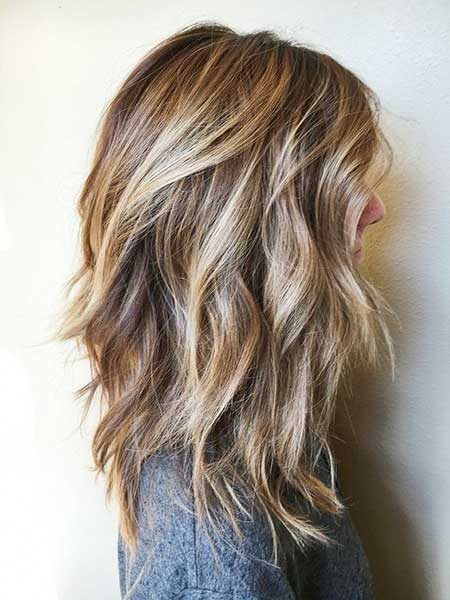 Balayage, Browns pâles, Highlights, Bob Choppy, Balayage Brown