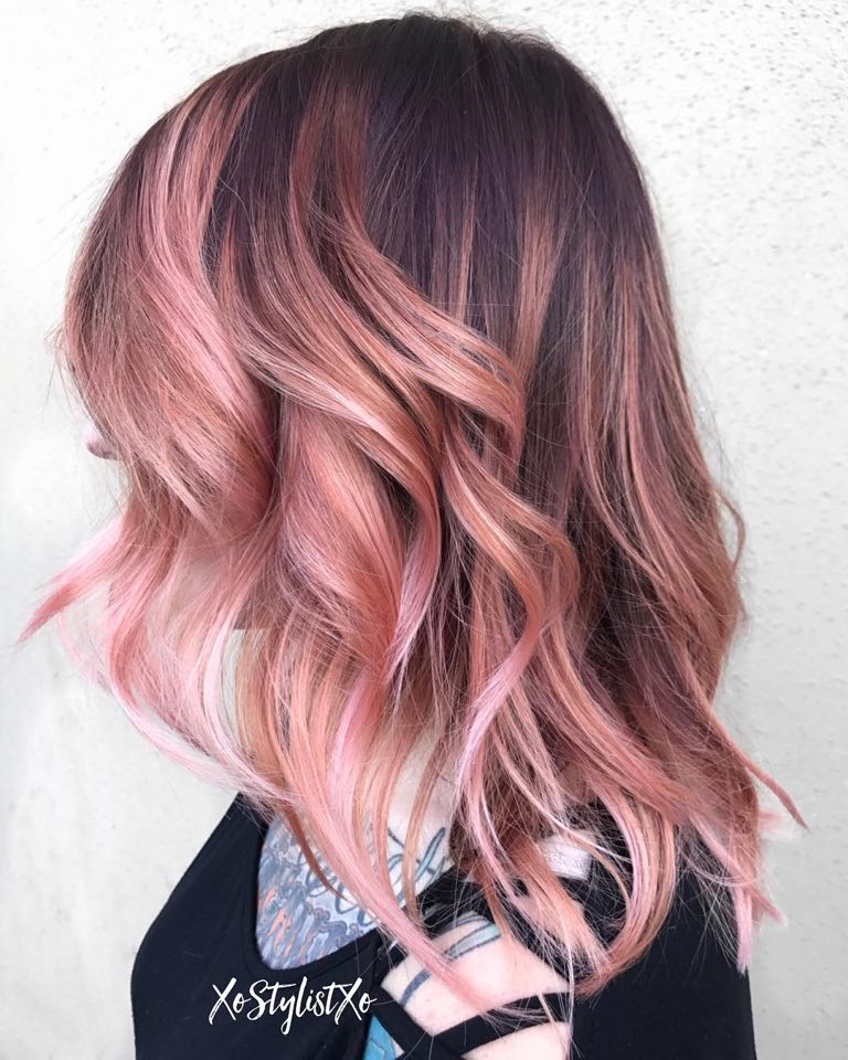 Rose-Gold-Hair-Color-for-Brunettes
