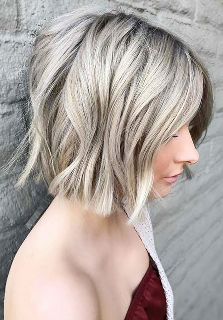 Blonde Bob Short Balayage