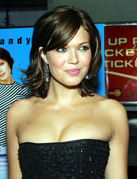 Mandy Moore Cheveux Courts, Dos Moyenne Dos