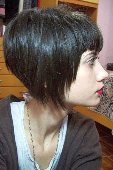 Bob Cut Pixie Bangs, Bob Court Choppy Hair
