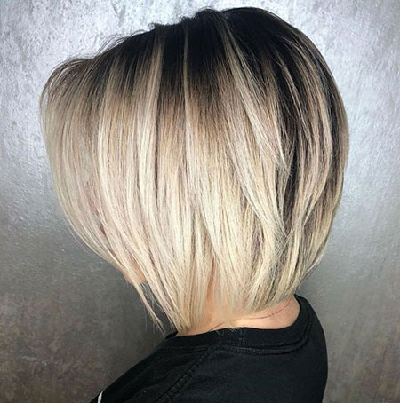 Blonde Bob Tapered Balayage