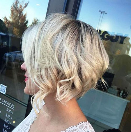Blonde Choppy Bob Short