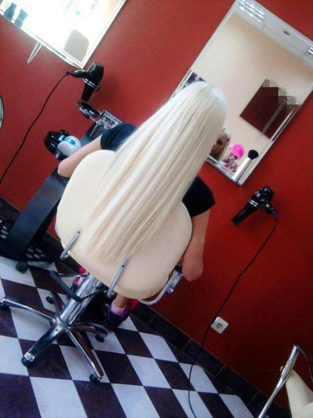 Cheveux blonds facile blanc