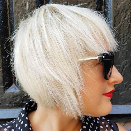 Blonde Bob Platinum Choppy