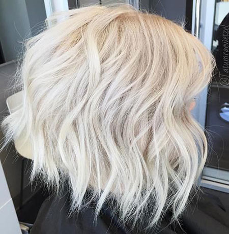 Ice Blonde Hair, Blond Bob Platinum Choppy