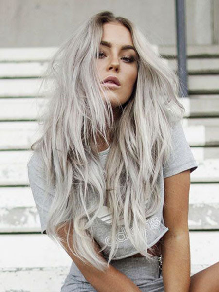 Blonde Poilue Platinum, Couleur de Cheveux Blonde Up