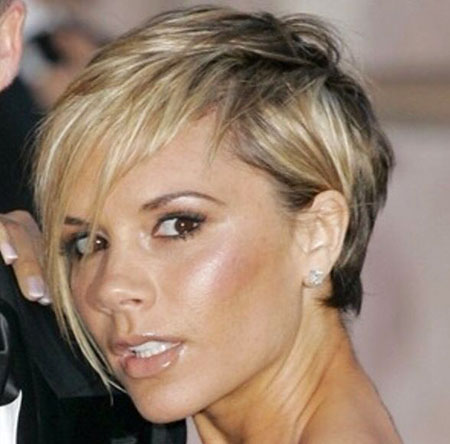 Longs Side Bangs, Cheveux Courts Victoria Beckham