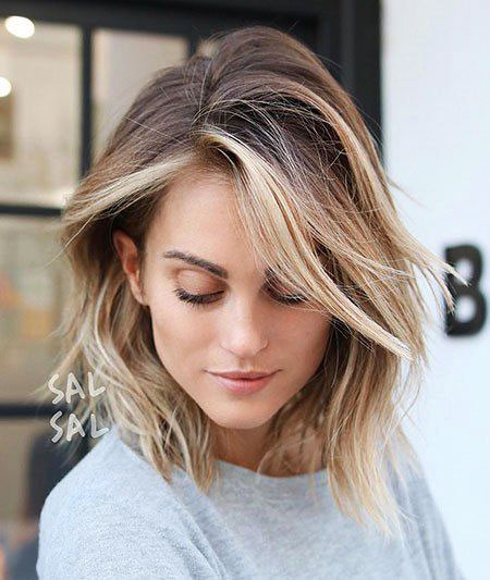 Balayage Blonde cheveux courts