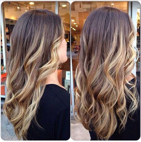 Blonde balayage Ombre cheveux