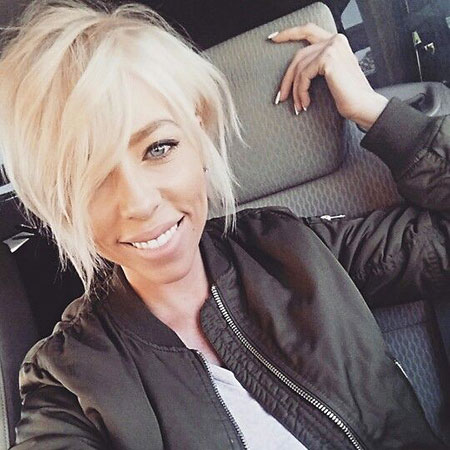 Cheveux Blonde Choppy Short