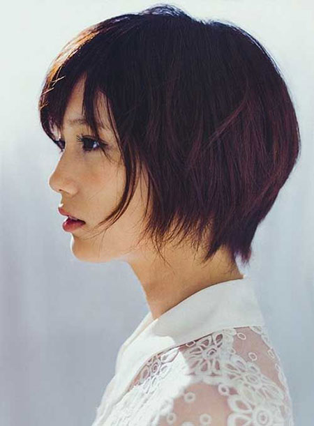 Fine Hair with Layers, Short Bob Hair Asian
