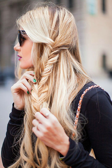 Braid Braids cheveux blonds