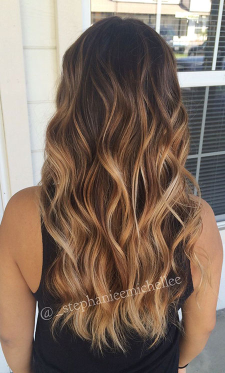 Long Ombre Hairtyle, Cheveux Ombre Balayage Long