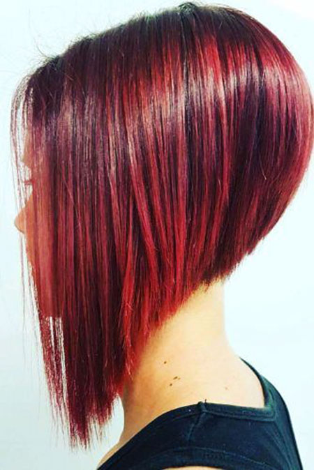 Bob Hair Red Layered