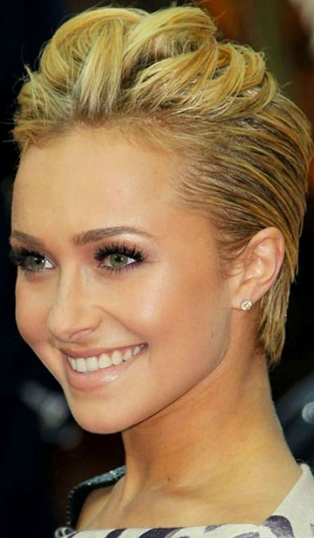 Court Blonde Up Hairtyle, Cheveux courts 30 Updos