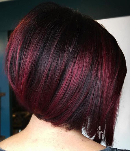 Libalayageghts rouge foncé, Bob Burgundy Hair Brown